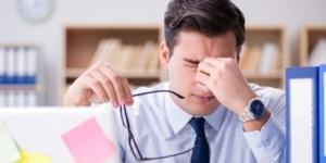 man under stress in need of a break