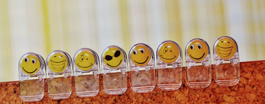 paper clips with smilies